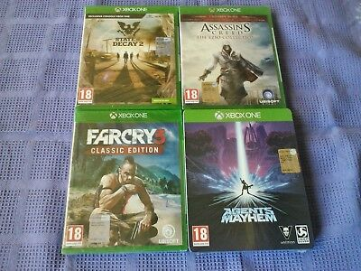 Xbox One Lotto 4 Giochi State Of Decay2+Assassin's Creed+Far Cry 3+Agents Mayhem