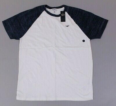 3cf46a26aa14 Hollister Men s Short Sleeve Must-Have Crewneck T-Shirt SV3 White Large NWT