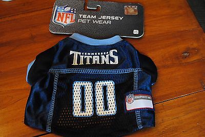 New NFL Tennessee Titans Dog Jersey size XS BOY NAVY BLUE 00 Football Team Pet