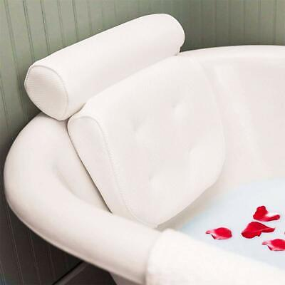 White Spa Headrest Bath Pillow Hot Tub Jacuzzi Home Relaxation