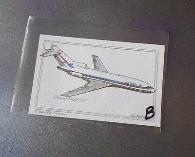 Boeing Model 727 Vintage 1973 Roy Andersen Collectors Series Airplane Postcard B