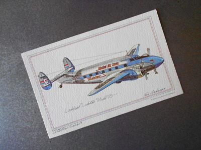 Lockheed Model 18 Vintage 1974 Roy Andersen Collectors Series Airplane Postcard