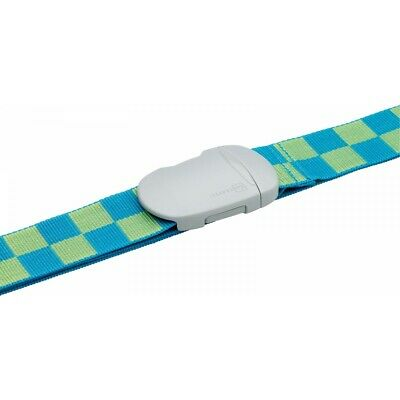 Go Travel E7 Fun Check Suitcase Strap Fully Adjustable Strong Buckle Blue 221BL