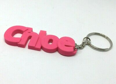 other colours available Lola Chunky Name Keyring DesignPersonalised