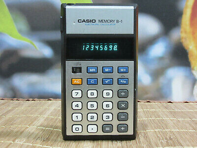 Casio Memory B-1 Vintage Electronic Calculator. Tested 100%.