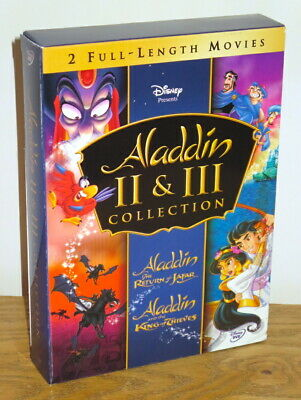 Disney Aladdin II & III The Return of Jafar/King of Thieves 2 Movie DVD set