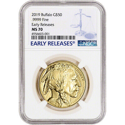 2019 American Gold Buffalo 1 oz $50 - NGC MS70 Early Releases