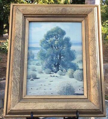 OLD PAINTING California Desert Plein Air IMPRESSIONIST Coultrup LISTED ARTIST