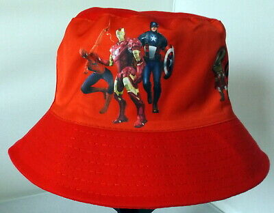 Children's Cotton Bucket Hat - Avengers Red