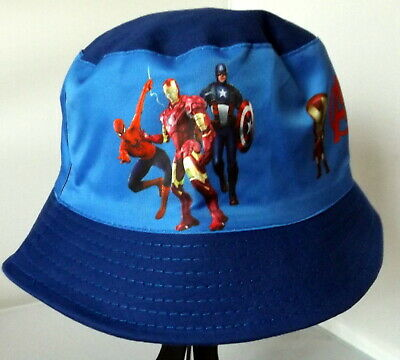 Children's Cotton Bucket Hat - Avengers Blue