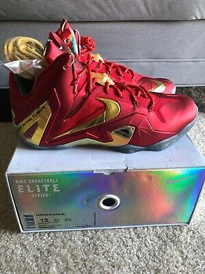 5be3a80561c5a Nike Lebron Xi Elite Se Championship Pack Red gold Size Men s 12  695226-