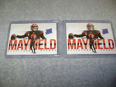 🔥  Baker Mayfield 2018 Rated Rookie Cleveland Browns 2 CARDS  MINT NRMT