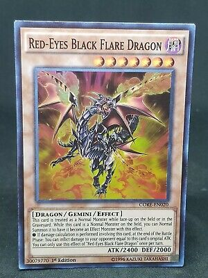 Red-Eyes Black Flare Dragon MP CORE-EN020 1st Edition Yugioh