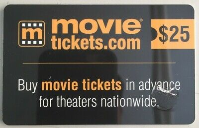 $25 MovieTickets.com Gift Card For Sale