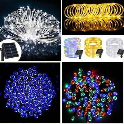 20-500 LED Solar Power Fairy Lights String Garden Outdoor Party Wedding Xmas UK