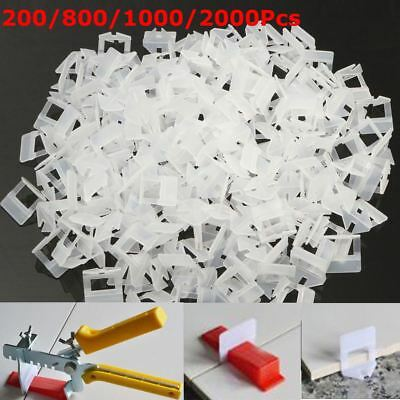 100/400Pcs Tile Leveling System Clips & Wedges Plastic Spacers Tiling Tools