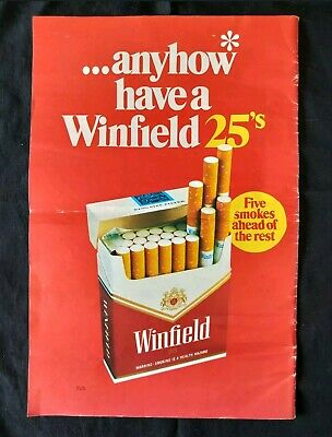 Vintage Winfield Red 25s Advertising page July 1987Cigarette Tobacco Smokes