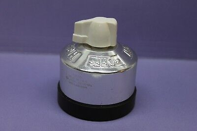Vintage GE Aluminum Range Heater Appliance Rotary Switch, 30A, HIGH,MED,LOW,OFF