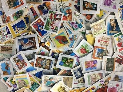 1000+ Australia Kiloware Used stamps On Paper -great For Beginners