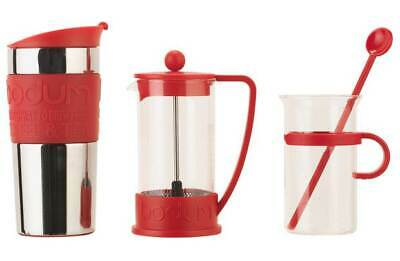 Bodum Bistro Coffee Set Cafetiere Travel Mug Cup Stirrer Maker Machine Tea New