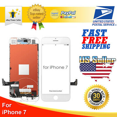 White iPhone 7 LCD Display Touch Screen Digitizer Frame Replacement A1660 A1778