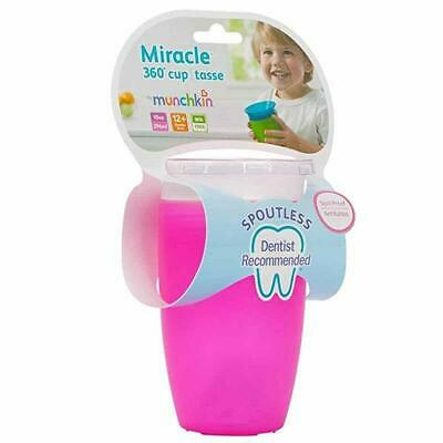 Munchkin 10oz Miracle 360 Degree Bay Kids Sippy Training Cup (Pink)