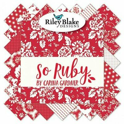 Quilting Fabric Layer Cake - So Ruby - Riley Blake -  Save $$$$$