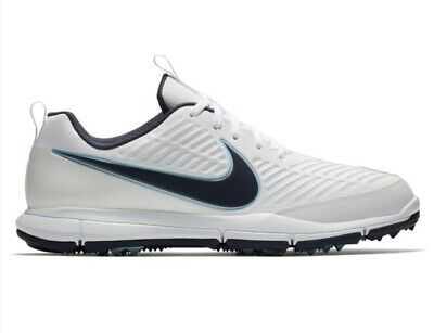 4fc1fbf2eacb Mens Nike Golf Spikeless Golf Shoes Size 10.5 White   Blue 849957-101