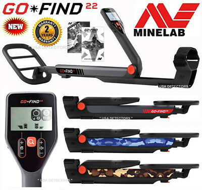 "NEW Minelab GO-FIND 22 Metal Detector With 8"" WATERPROOF Search Coil"