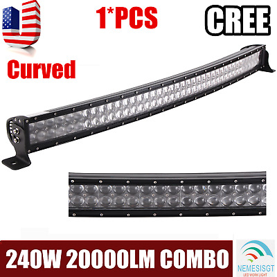 """42"""" 240W LED Curved Light Bar Combo Offroad Bumper Lamp For 4WD SUV Truck Cree"""