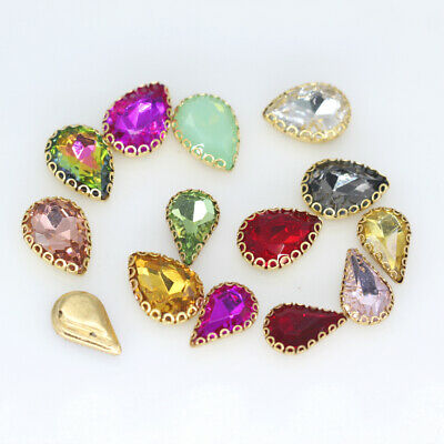 All-size Teardrop Glass stone sew on crystal rhinestones lacy claws clothes Trim