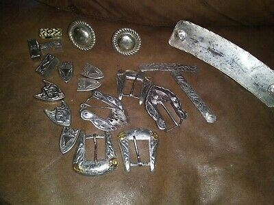 WESTERN SADDLE CONCHO And Buckle Lot