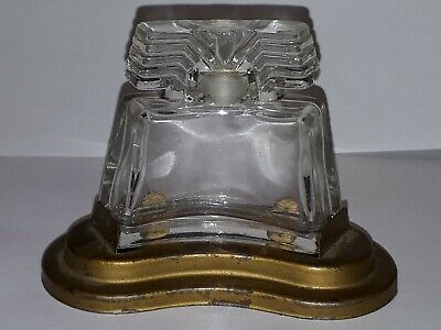 Vintage Ciro New Horizons Perfume Bottle in Metal Base