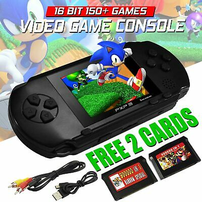 "Pxp 3 Handheld 2.7"" With 150 Games Sega Nintendo Retro With 2 Game Card Free Oz"