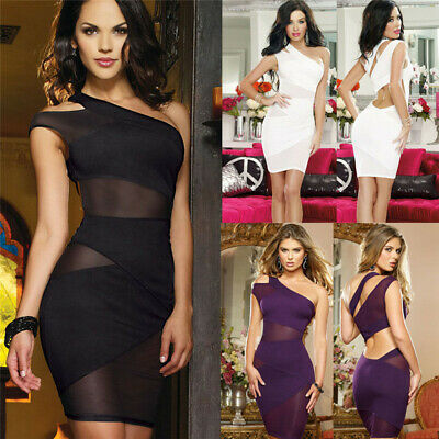 PLUS SIZE WOMENS Strappy Bardot Bodycon Party Deep V Plunge ...