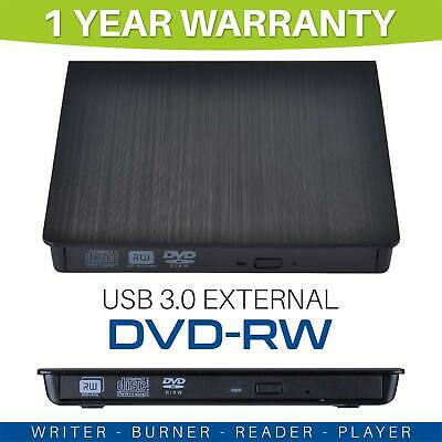 USB 3.0 Slim Portable External DVD-RW CD-RW Combo Drive Burner Reader Player OZ