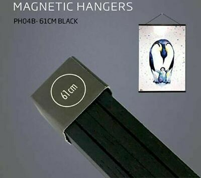 Poster Hanger Set Magnetic Timber Black 61cm