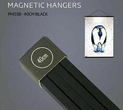 Poster Hanger Set Magnetic Timber Black 40cm