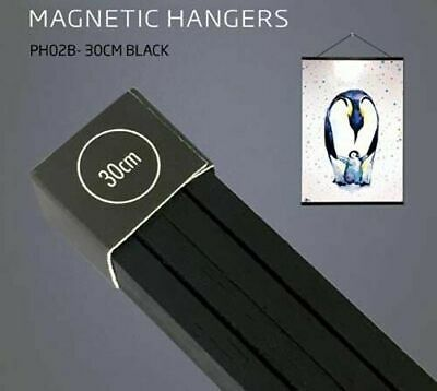 Poster Hanger Set Magnetic Timber Black 30cm