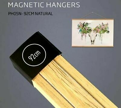 Poster Hanger Set Magnetic Timber Natural 92cm