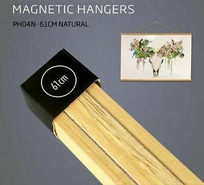 Poster Hanger Set Magnetic Timber Natural 61cm