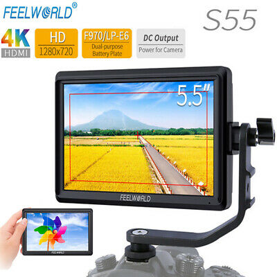 "FEELWORLD S55 5.5"" IPS Camera Field DSLR HD Monitor Focus 1280x720 Support"