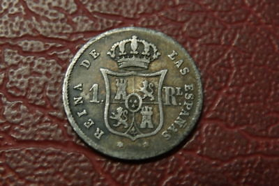 Spain Silver 1852 1 Reales  ,   (1337)