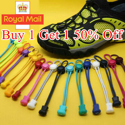 No Tie Shoe Laces Elastic Lace Lock System Lock Sports Shoelaces Runners Trainer