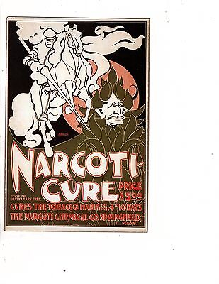 Unframed Art Poster Vintage Ad Narcoticure 5.00 tonic to cure tabacco hab(448md)