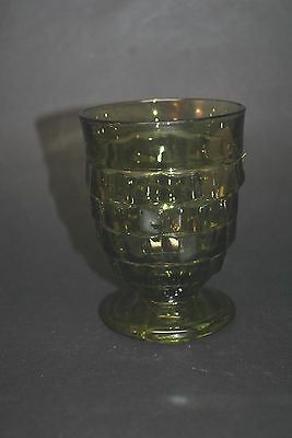 """Fostoria """"American"""" Green Footed Water Goblet ***Stunning**Excellent**No Chips**"""