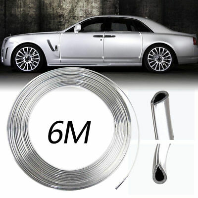 1xTrim Strip Chrome Moulding Car Door Bumper Edge Scratch Guard Protector Cover