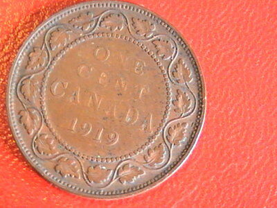 Canada 1919 Large Penny Canadian 1 Cent Coin 1c