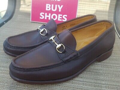 af50fe403d8 Alden Cape Cod Collection Gold Horse Bit Loafers Brown. Size 10.5 D.   h466