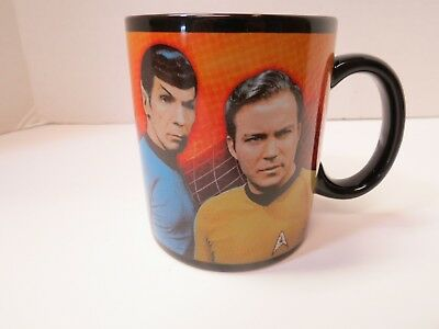 Star Trek 2011 Kirk Spock Starship Enterprise Ceramic Coffee Mug CBS Studios